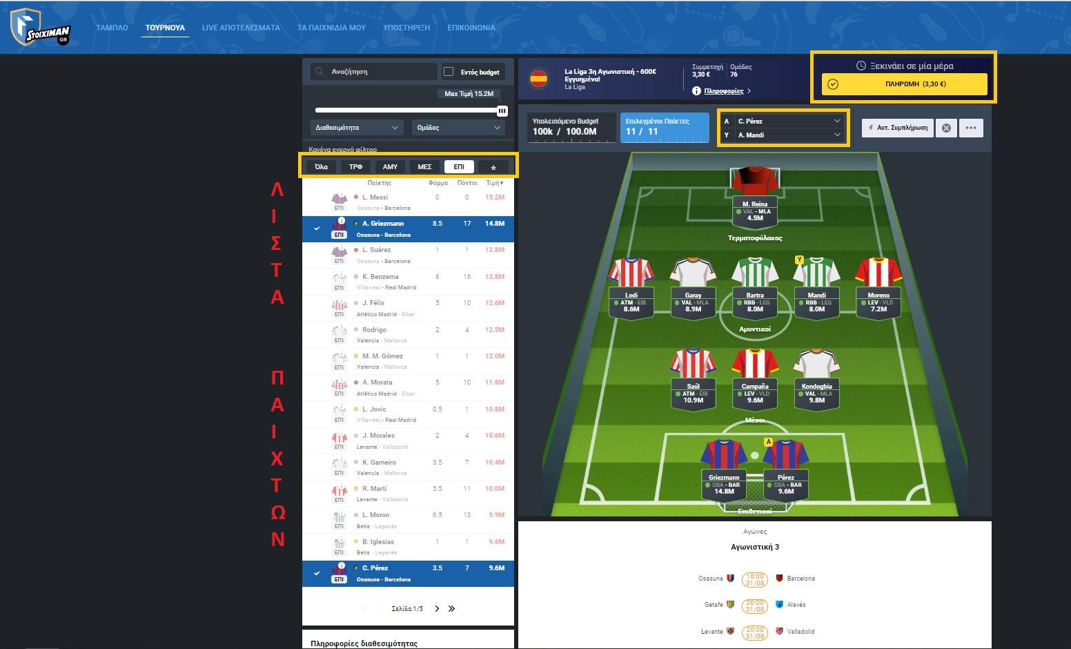fantasy ποδοσφαιρο